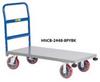All-Welded Platform Truck With Corner Bumpers -- HNCB-3048-8PYBK -Image