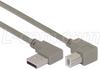 Right Angle USB Cable, Left Angle A Male/Up Angle B Male, 0.3m -- CA90LA-UB-03M - Image