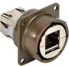 connector,metal circ,panel mount recept,rj45 to rj45,transversal seal,green fin -- 70026561