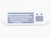 Industrial TKF Keyboard with Touchpad -- TKF-085b-TOUCH-MODUL