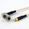 RA SMA Male to MMCX Plug Cable RG316 Coax in 120 Inch -- FMC0409316-120 -Image