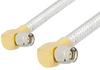 SMA Male Right Angle to SMA Male Right Angle Cable 18 Inch Length Using PE-SR401FL Coax -- PE34217-18 -Image