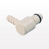 PLC12 Series 1/4 inch Hose Barb Non-Valved Elbow Coupling Insert -- PLC2300412 -Image
