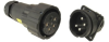 Cylindrical, Composite, Reverse Bayonet Coupling, Power RADSOK® Sockets for High Voltage and Amperage -- Amphe-Power; Composite Amphe-GTR - Image