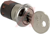 Switch, Keylock; SP; 250VAC; 2A; Keypull POS 1,2; Solder lug -- 70128595 - Image