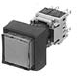 Illuminated Pushbutton Switch With Concave Square Head, Oil-Tight -- AH165-2SCL, 2SCL5 - Image