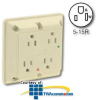 Leviton Surge Protective/Isolated Ground Four-In-One.. -- 5480-IG -- View Larger Image