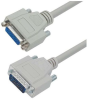 Deluxe Molded D-Sub Cable, HD26 Male / Female, 25.0 ft -- HAD00004-25F -Image