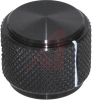 Knob; Black; 0.75 in.; RoHS Compliant, ELV Compliant -- 70156260