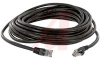 Cable, Patch; 25 ft.; 24 AWG; Unshielded Twisted Pair; Booted; Black; UL Listed -- 70081239 - Image