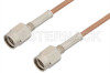 SSMA Male to SSMA Male Cable 18 Inch Length Using RG178 Coax -- PE33762-18