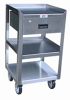 Narrow Stainless Steel Mobile Work Stand -- Model XR - Image