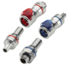 LQ6 Series Chrome Plated Brass Connectors for Liquid Cooling -- 62382 -- View Larger Image
