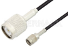 Reverse Polarity SMA Male to TNC Male Cable 72 Inch Length Using RG174 Coax -- PE35218-72 -Image