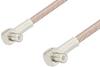 MCX Plug Right Angle to MCX Plug Right Angle Cable 24 Inch Length Using RG316 Coax, RoHS -- PE3306LF-24 -Image