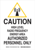 Radiation & Laser Sign -- 124181 - Image