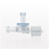 Dual Check Valve, Female Luer Lock Inlet, Male Luer Lock Outlet, Female Luer Lock Control Port -- 79004 -Image