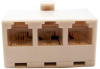 RJ11 6P4C 1 M/ 3F Modular T Adapter -- 68TA-2A -- View Larger Image