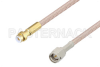 Snap-On MMBX Plug to SMA Male Cable 6 Inch Length Using RG316-DS Coax -- PE3C3854-6 -Image