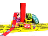 Barricade, Marking, Reflective Warning Stripe Tapes