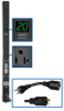 Single-Phase Metered PDU, 1.9kW 20A 120V, 24-in. 0U Vertical Rackmount, 6 NEMA 5-15/20R outlets, NEMA L5-20P input with 5-20P adapter -- PDUMV20-24