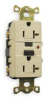 GFCI Receptacle,20A,Industrial,Ivory -- 1ZPH5