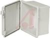 Enclosure; ABS/PC Blended Plastic; Polyurethane Gasket; Light Gray; NEMA1,2,4,4X -- 70148558