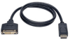 DisplayPort to DVI Cable Adapter, Converter for DP-M to DVI-I-F, 3-ft. -- P134-003 - Image
