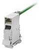 Passive Industrial Ethernet IP20 Mounting Rail Outlet / Patch Panel Mounting Rail Outlet RJ45 Module -- IE-TO-RJ45-FJ-B