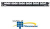 Panduit® Mini-Com All Metal Modular Patch Panels with.. -- CP16WSBLY