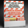 Prinzing Safety Lockout Center (Black/Red on Yellow; English; Tough Acrylic Plastic) -- 754476-45265