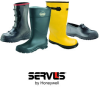 Servus A380 Yellow 8 Waterproof & Rain Overboots/Overshoes - 18 in Height - Rubber Upper and Rubber Sole - A380 SZ 8 -- A380 SZ 8