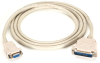 25-ft Premium RS232 AT Modem Cable DB9 F/DB25 M 9-Conductor -- EVMTBMC-0025 - Image