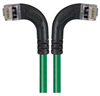 Shielded Category 6 Right Angle Patch Cable, Right Angle Left/Right Angle Right, Green, 7.0 ft -- TRD695SRA8GR-7 -Image