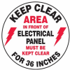 Keep Clear Area in Front of Elec. Panel Slip-Gard Floor Sign -- SGN840