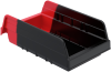 Indicator® Storage Bins -- 36468BLKRED