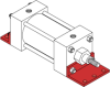 Series MN Aluminum Pneumatic Cylinder - Model MN44 NFPA Style MS1 -- Angle Mounting