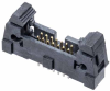 7+7 Pos. Male DIL Vertical Throughboard Conn. with Ejector -- M50-3550742