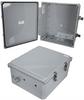 14x12x06 Polycarbonate Weatherproof NEMA 4X Enclosure, Modified Base Dark Gray -- NBPC141206-02 -- View Larger Image