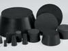 Black Neoprene Plugs -- BN133 -Image