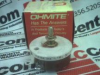 OHMITE RJS35R ( RHEOSTAT, WIREWOUND, 35 OHM, 50W, TRACK RESISTANCE:35OHM, PWR RATING:50W, PRODUCT RNG:RJS SERIES, POTENTIOMETER MOUNTING:PANEL, ADJUSTMENT TYPE:SCREWDRIVER SLOT, NO. OF TURNS:1TURNS... -Image
