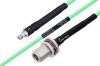 Temperature Conditioned SMA Female to N Female Bulkhead Low Loss Cable 72 Inch Length Using PE-P142LL Coax -- PE3M0142-72 -Image