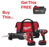 MILWAUKEE M18 XC 2 Tool Combo Kit. Includes a FREE -- Model# 2694-22
