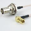 RA SMB Plug to BNC Female Bulkhead Cable RG-316 Coax in 36 Inch -- FMC2638315-36 -Image