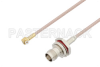 Snap-On MMBX Plug Right Angle to TNC Female Bulkhead Cable 18 Inch Length Using RG316 Coax -- PE3C4026-18 -Image