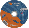Weiler TIGER Zirconia Alumina Cutting Wheel - Type 1 - Straight Wheel - 6 in Diameter - 7/8 in Center Hole - Thickness.045 in - 58002 -- 012382-58002 - Image