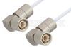 75 Ohm 1.6/5.6 Plug Right Angle to 75 Ohm 1.6/5.6 Plug Right Angle Cable 48 Inch Length Using 75 Ohm RG187 Coax, RoHS -- PE36125LF-48 -Image