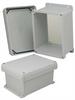 8x6x4 Inch UL® Listed Weatherproof NEMA 4X Enclosure w/Non-Metallic Mounting Plate, Corner Screws -- NBC080604-KIT01 -Image