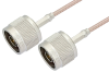 N Male to N Male Cable 60 Inch Length Using RG316-DS Coax -- PE33288-60 -- View Larger Image