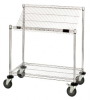 Wire Shelving - Slanted Shelving - Work Station Cart - M1848SL34C